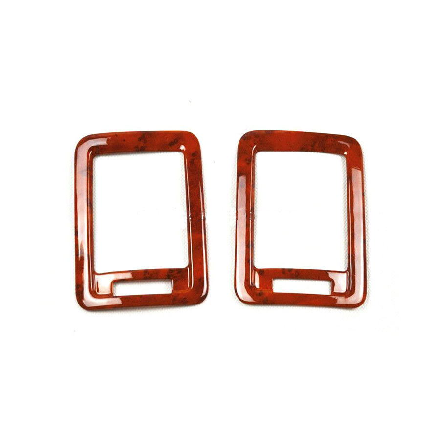 2 Car font b Interior b font Wood Color Rear Air Vent Molding Covers Trim Mouldings