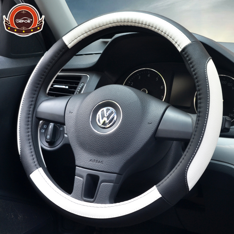 New style car steering wheel cover car styling Breathable anti slip steering-wheel Micro Fiber Leather material freeshipping