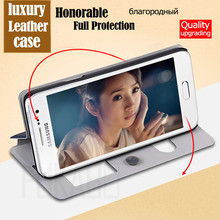 Samsung Galaxy A5 A7 J5 J7 2017 Case Luxury leather Flip View Smart Mirror Phone Cases For Samsung J7 J5 A5 A7 2016 Cover