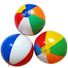 23cm Kids Rainbow Colored Inflatable Ball Balloons Swimming Pool Play Party Water Game Balloons Beach Ball Outdoor Sport Ball