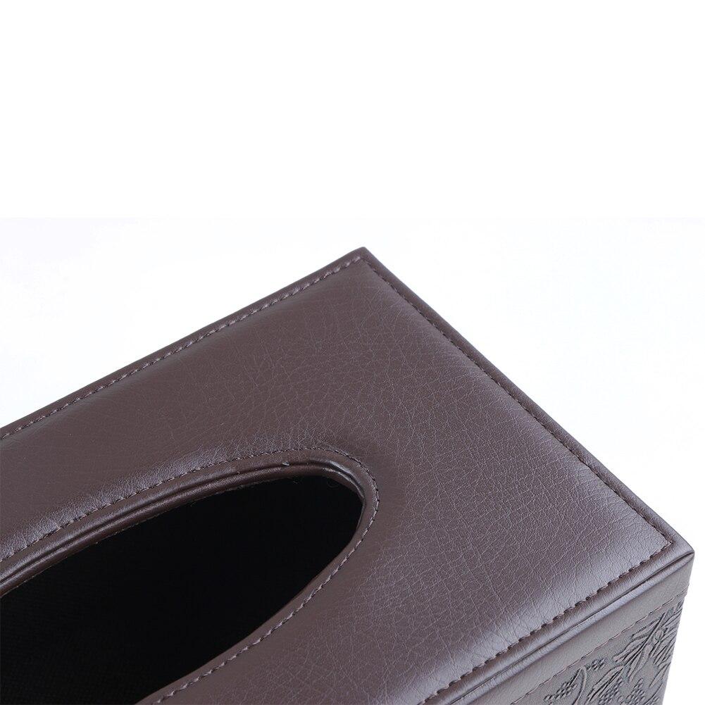 Leder Platz Rechteck Tissue Box Fern Lagerung schreibtisch ...