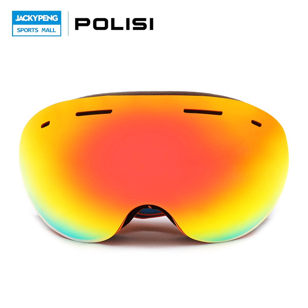 POLISI Professional Winter Ski Goggles Men Women UV400 Snowboard Glasses Big Spheral Double Layer Anti-Fog Lens Skiing Eyewear polisi double layer lens ski snow glasses winter anti fog snowboard goggles uv400 protection skiing eyewear gafas de nieve
