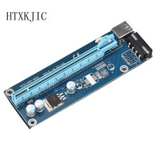 20pcs/lot 60cm PCI-E 1X to 16X Extender Riser Card SATA 15Needle 4Pin Power Line USB 3.0 Connector Power Supply Cable for Mining