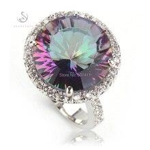 Rainbow a la moda CLassic Mystic piedra plateada plata favorito más recomendado anillo deportivo R735 tamaño 6 7 8 9