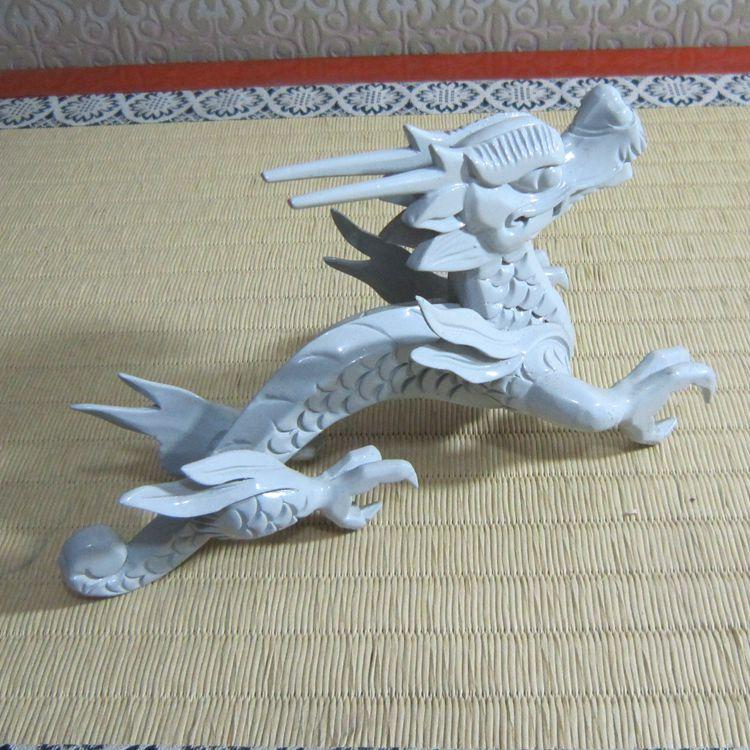 Sculpture sur bois, dragon chinois, arts et artisanat, décorations, décorations d'ameublement, cadeau de Festival ~
