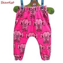Baby Girls Autumn Harem Pants Newborn Girl Floral Leggings Kids Cotton Trousers 2017 New Arrival 25C