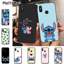 MaiYaCa cartoon Lilo Stitch black soft tpu Rubber Cell Phone Case for xiaomi redmi 5plus note5 note3 mi 8se 6 cover coque цена