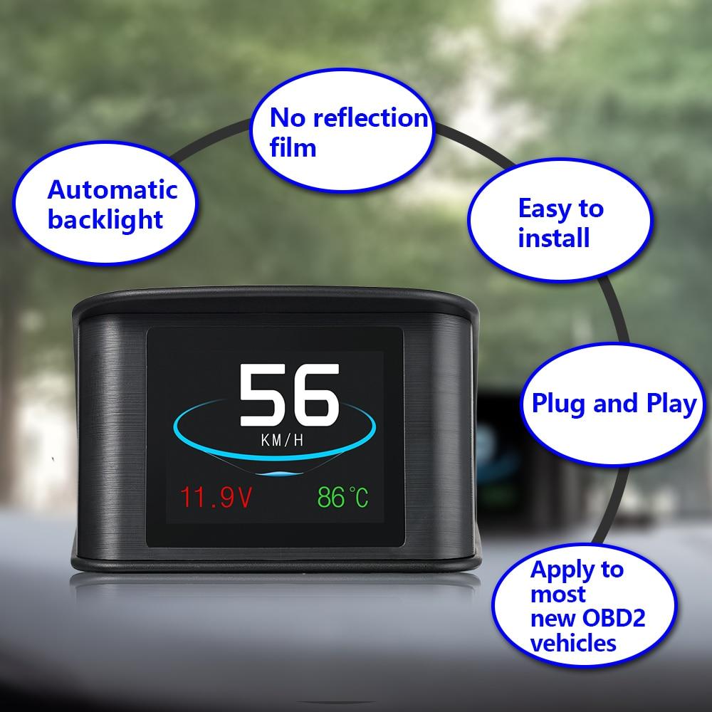 Image 3 - Geyiren P10 OBDII автомобиль поездки бортовой компьютер T600 Автомобильный цифровой GPS OBD2 OBD Спидометр дисплей Температура воды измеритель об/мин-in Проекционный дисплей from Автомобили и мотоциклы