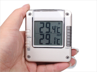 Digital Thermometer LCD backlight Max/Min Temparature desk clock with waterproof probe weather station