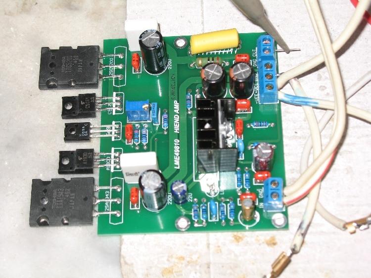 LME49810 100 W kit Amplificador Mono 8ohm com TTA1943 TTC5200