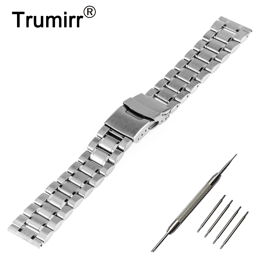 20mm 22mm 24mm Stainless Steel Watch Band Safety Buckle Watchband for D