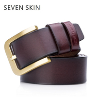 SEVEN SKIN Brand 2018 Luxury Designer Belts For Men High Quality Genuine Leather Men Belt Male