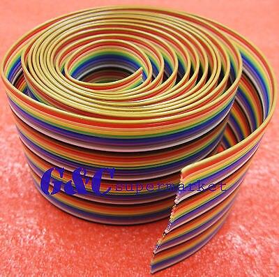 1-m-33ft-40-way-40-pin-idc-plano-color-rainbow-ribbon-cable-fio-cabo-rainbow