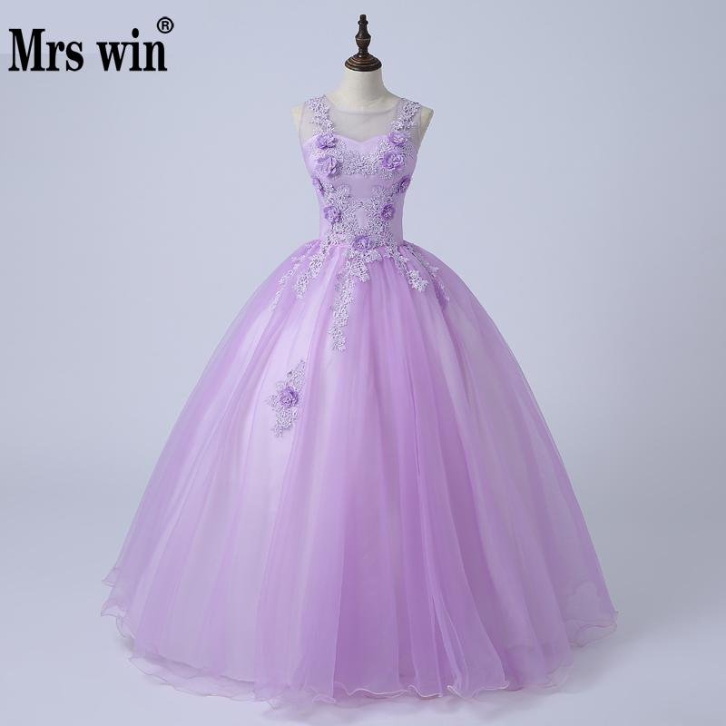 Quinceanera Dresses 2018 New The Luxury Scoop Neck Classic Embroidery Sweet Flower Ball Gown Contrast Color Noble Robe De Soiree