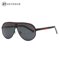 AEVOGUE Polarized Sunglasses Men Copper Frame Sun Glasses Classic Brand Designer Steampunk With Box UV400 AE0472