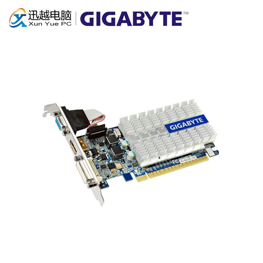 Gigabyte GV-N210SL-1GI Graphics Cards 64 Bit G 210 1G GDDR3 HDMI DVI VGA For Nvidia Geforce G210 Original Used Video Card(China)