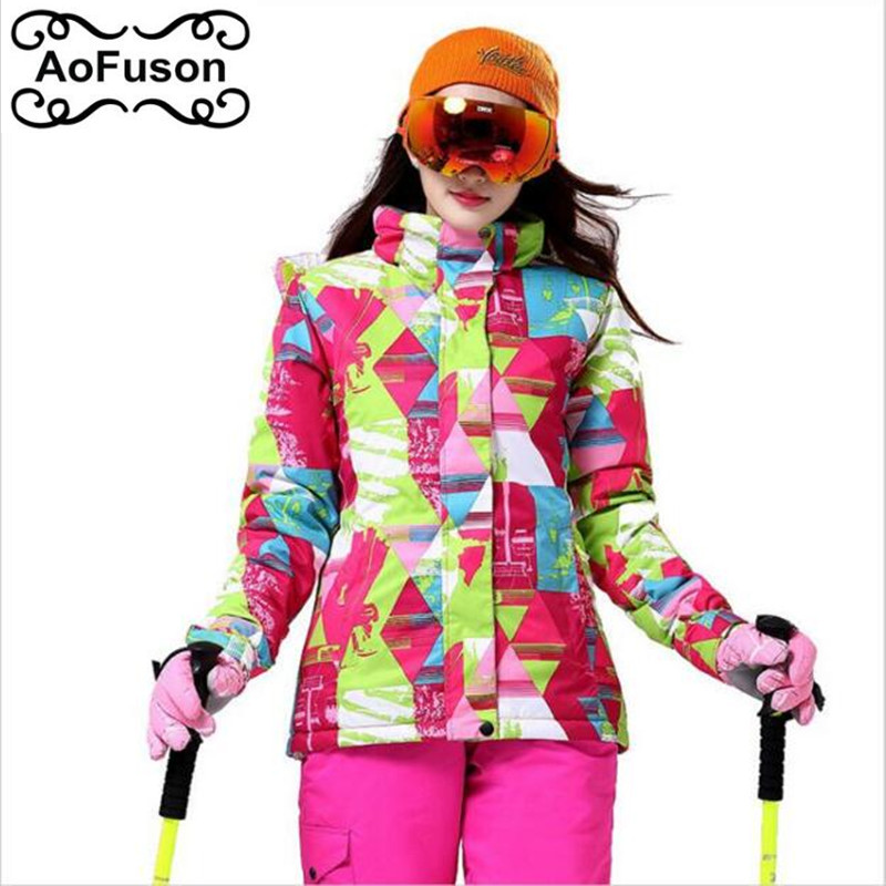 Ski Jacket Women Warm Breathable Outdoor Waterproof Winter Brand Snowboarding Hiking Jackets Ladies Snow Skiing Clothes winter skiing and snowboarding women waterproof windproof breathable warm outdoor sports moutain climbing hiking coat jacket