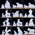 Керамическая зодиакальная Зверюшка размер белая мышка Бык Тигр овца обезьяна  курица собаки и свиньи украшены для привлечения богатства