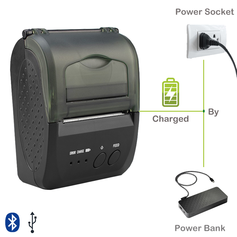 58mm Mini Pocket Thermal Bluetooth Printer 2 Inch USB Pos Printer For Restaurants And Supermarkets For Window Android IOS