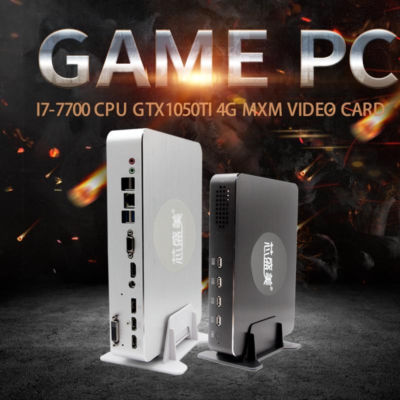 MSECORE i5 7500 Dedicated Video Card GTX1050ti 4G Mini PC Desktop Computer Game Windows 10 Nettop barebone system HTPC 4K WiFi