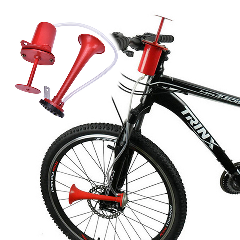 MTB Bicycle Ultra Loud Alarm Mountain Road Bike Handlebar Warning Horn Cycling Bell Bike Air Siren Sound 120DB Fit