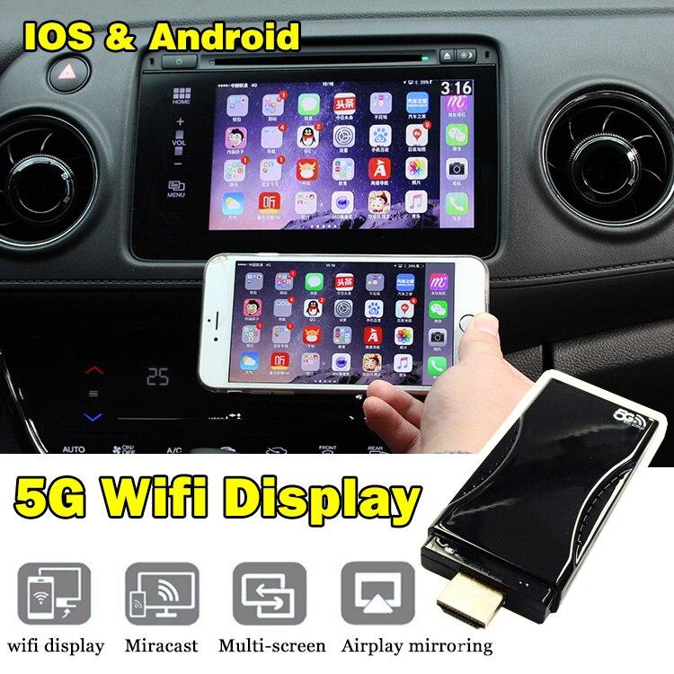 ФОТО Carlinke 5G WiFi Display TV Stick Via Airplay Mirroring Miracast DLNA Allshare HDMI Suit for Smart TV Tablet TV BOX