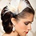 Delicate Mulheres Pena Strass Festa Nupcial Do Casamento Hairpin Grampo de Cabelo Dança Do Ventre Para o seu querido Oct22 atacado