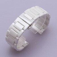 14mm 16mm 18mm 20mm Polished watchband pure ceramic beautiful watch bracelet strap for dress watch ladys fashion deployment belt