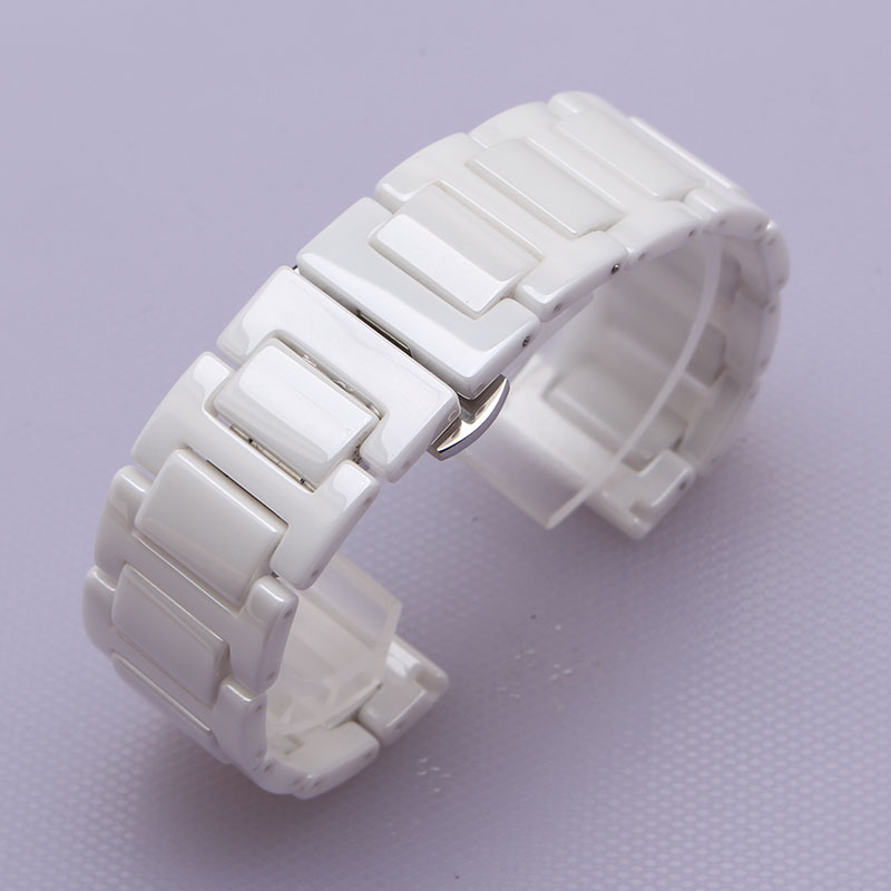 14mm 16mm 18mm 20mm Polished watchband pure ceramic beautiful watch bracelet strap for dress watch ladys fashion deployment belt dull polished mixed beaded bracelet