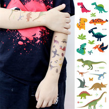 28 Style 1PCS Disposable Tattoo Sticker Dinosaur Party Decor Baby Dino Birthday Party Favors Temporary Dinosaur Party Supplies,Q(China)
