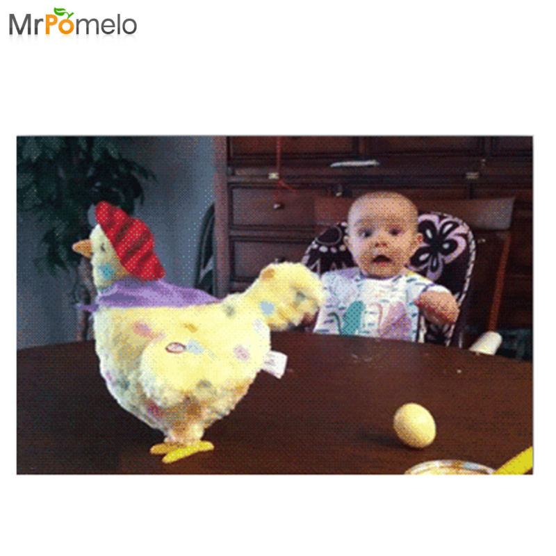 Mrpomelo Chicken Toy Baby S Shocked Reaction To An Easter
