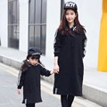 2016 Matching Mother Daughter Dress Family Look hooded  Family Matching Clothes Parent-child Outfit Ma e Filha Mommy and Me 2-8Y