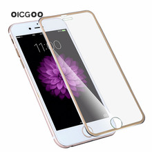 Curved titanium edge tempered protective front film full protector glass screen