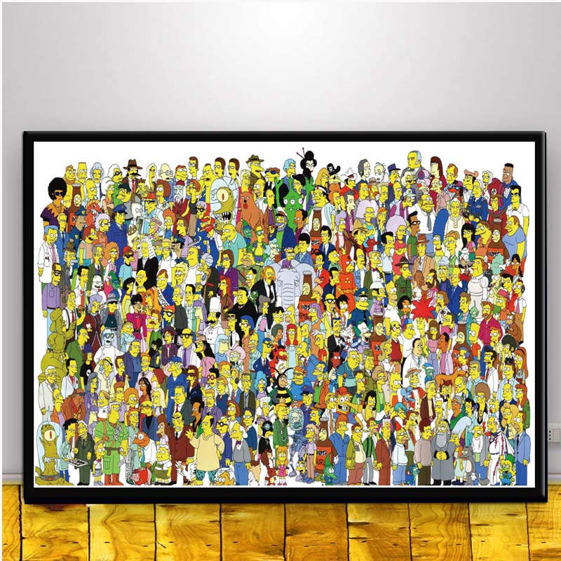 The Simpsons Hot Movie Art Canvas Poster Print