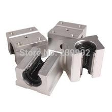 Bloque de rodamiento de bolas lineal SBR20UU SBR20, piezas CNC, 4 Uds.