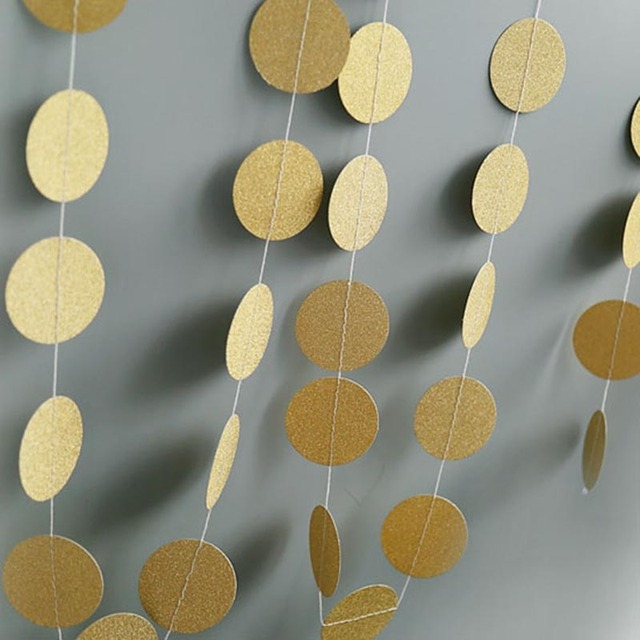 4m round paper garland hanging paper banners diy bridal shower gender reveal baby birthday party backdrop