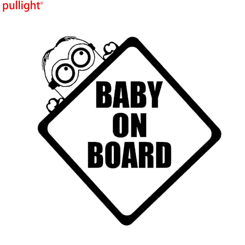 Baby On Board Minion Bumper Sticker Window Car Stickers And Decals Motorcycle SUVs Bumper Car Window Car Styling