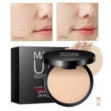 Polvo comprimido mate para maquillaje, corrector, control de aceite, base de maquillaje para el rostro, Maquillaje Mineral compacto, cosméticos