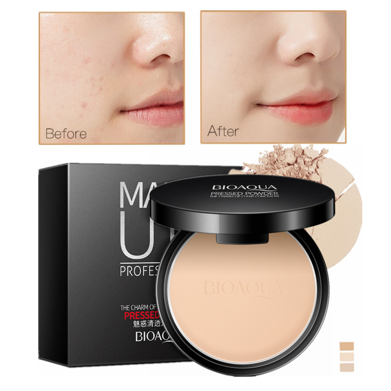 Matte Pressed Powder Makeup Concealer Oil-control Face Setting Foundation Facial Make Up Mineral Compact Powder Cosmetics image