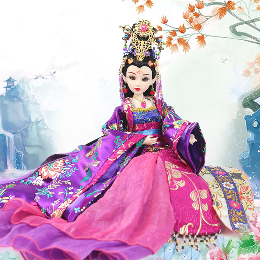 Fortune days bjd doll East Charm Elegant Lady Chinese style including clothes stand box 35cm headdress souvenir