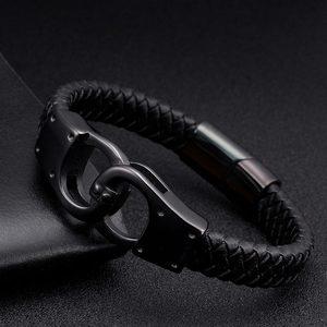 Black Genuine Leather Vintage