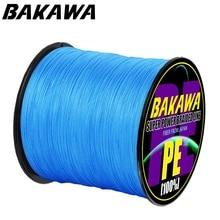 BAKAWA 300 м 4 нити супер крепкая ПЭ плетеные лески многонитевые линии для ловли карпа трос шнур Pesca Peche 10LB
