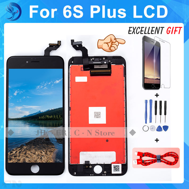 ФОТО Grade AAA 5.5 inch For IPhone 6s Plus LCD Complete Display with Touch Screen Digitizer Repair Assembly 3D sensitive Free ship