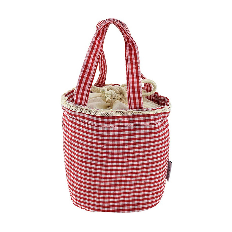Fashion Girls Kids Canvas Thermal Insulated Lunch Box Tote Cooler Bento Picnic Pouch Storage Bag