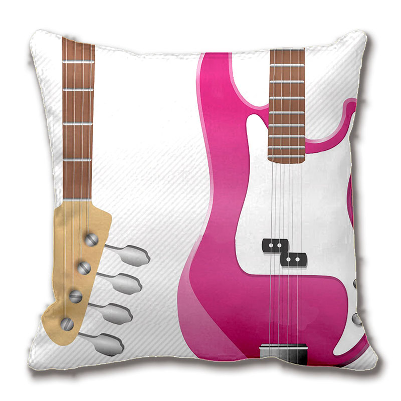 Girly Chic Hot Pink Electric Guitar White Stripes Throw Pillow Case Mesmerizing Girly Decorative Pillows