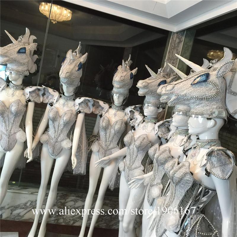 Led luminous horse costume flashing ballroom stage clothes08