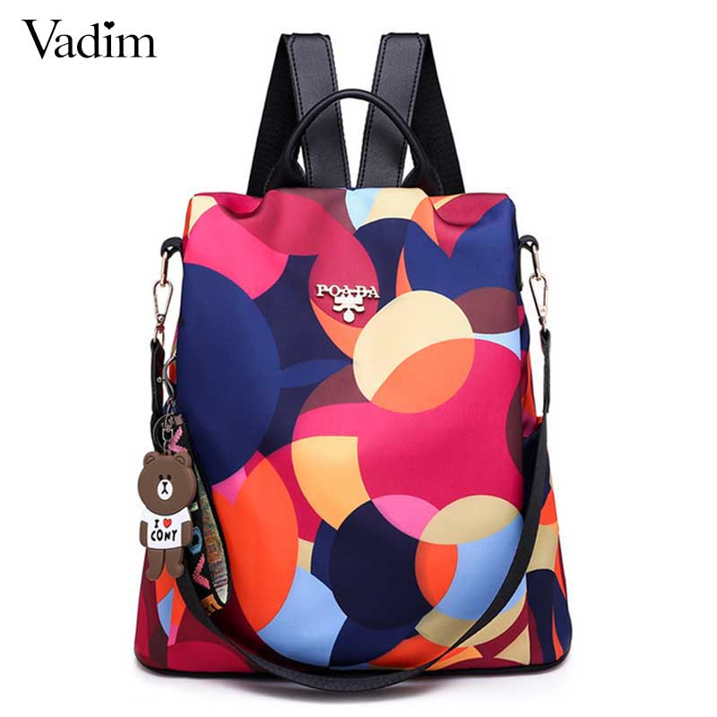 Vadim New Fashion Women Backpacks 2019 Waterproof Oxford Backpack Female Anti Theft Bagpacks School Bags For Girls Mochila Mujer