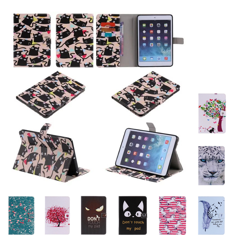 For Apple iPad Mini Case Tiger pattern Leather Case cover For ipad Mini 1 2 3 tablet with Magnetic Auto Wake Up Sleep card slot