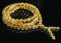 free shipping Natural Brazil Golden Hair Rutile Quartz Stretch Clear Bead Bracelet AAA 6 mm
