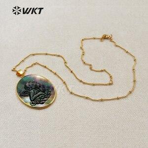 Image 2 - Женское Ожерелье, овальной формы, с различным символом удачи